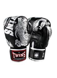 Twins Special 10oz FBGV-49SV Fancy Boxing Gloves, Black/Silver