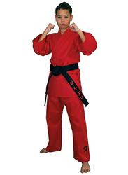 Tatsu Dragon 5/180 Karate Uniform with White Belt, Red