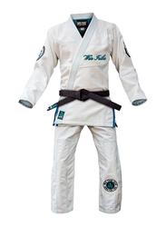 War Tribe W4 Women's Precision Gi Judo Kimono, White/Teal
