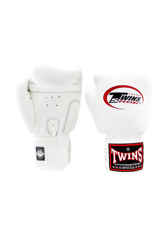 Twins Special 6oz BGVL3 Boxing Gloves, For Boxing/Muay Thai/MMA, White