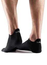 Toesox Ultralite No Show Socks, Medium, Black