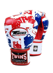 Twins Special 12oz FBGV-44UK Flag of United Kingdom Fancy Boxing Gloves, Red/White/Blue