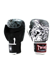 Twins Special 16oz FBGV-L3 Lion Printed Fancy Boxing Gloves, White