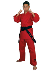 Tatsu Dragon 2/150 Karate Uniform with White Belt, Red