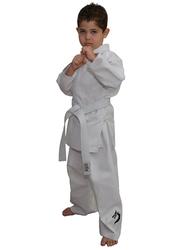 Tatsu Dragon 0/130 Karate Uniform with Black Dragon Print, White