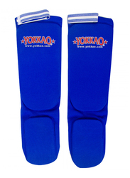 Yokkao Cotton Muay Thai Shin Guards, Blue