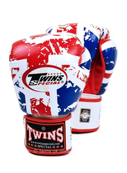 Twins Special 10oz FBGV-44UK Flag of United Kingdom Fancy Boxing Gloves, Red/White/Blue