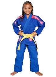 Atama M0 Ultra Light Kids Kimono for Girls, Blue/Pink