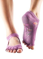 Toesox Bella Half Toe Socks, Medium, Ditzy