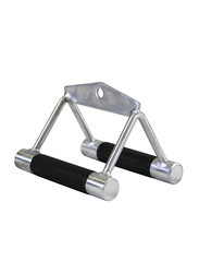 TKO Seated Row/chinning Chrome Bar, Silver/Black
