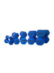 TKO Neoprene Coated Dumbbell, 5 Lbs, Blue