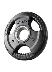 TKO Olympic Rubber Grip Plate, 5 KG, Black