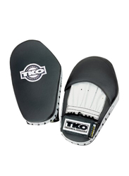 TKO 2 Pieces Pro Style Leather Punch Mitts, Black