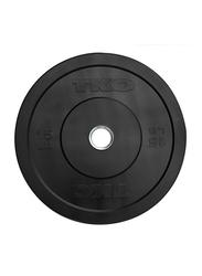 TKO Rubber Bumper Plate, 15LBS, Black