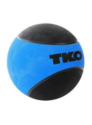 TKO Rubberized Medicine Ball, 8LBS, Blue/Black