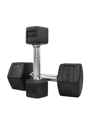 TKO Hex Dumbbells, 80LBS Pair, Black/Silver