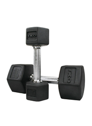 TKO Hex Dumbbells, 35LBS Pair, Black/Silver