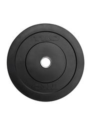 TKO Rubber Bumper Plate, 20LBS, Black