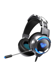 Aula G91 Wired Esports Over-Ear Gaming Headset with Mic, Black