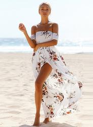 VBTQE Callie Strap Maxi Dress, 10 UK, White
