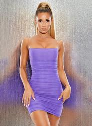 VBTQE Valerie Strap Mini Dress, 12 UK, Purple
