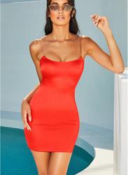 VBTQE Madison Strapless Mini Dress, 8 UK, Red