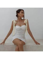 VBTQE Alina Strap Mini Dress, 6 UK, White
