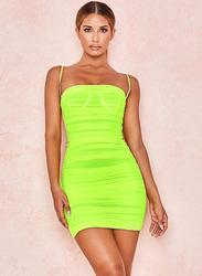 VBTQE Penelope Strapless Mini Dress, 6 UK, Lime