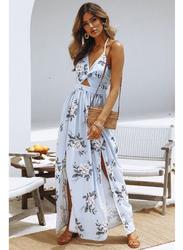VBTQE Finley Strap Maxi Dress, 6 UK, Light Blue
