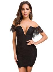 VBTQE Daisy Strapless Mini Dress, 6 UK, Black