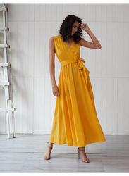 VBTQE Lily Strap Maxi Dress, 6 UK, Dark Yellow