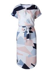 VBTQE Talia Short Sleeve Mini Dress, 6 UK, Multicolor