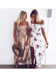 VBTQE Brynlee Strap Maxi Dress, 6 UK, Beige