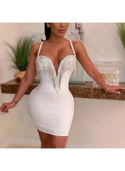 VBTQE Alyssa Strap Mini Dress, 6 UK, White