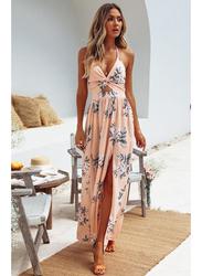 VBTQE Juliette Strap Maxi Dress, 10 UK, Rose Beige