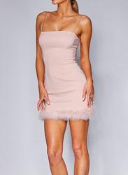 VBTQE Ella Evening Strapless Mini Dress, 6 UK, Rose Pink