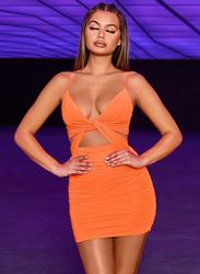 VBTQE Camila Strap Mini Dress, 6 UK, Orange