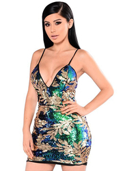 VBTQE Cora Strapless Mini Dress, 6 UK, Green