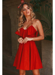 VBTQE Teagen Strap Mini Dress, 8 UK, Red