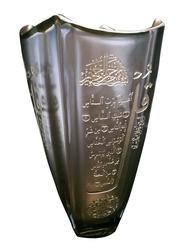 Silver Sword Crystal Copper Gold Plated Vase, 25.5cm, Gold
