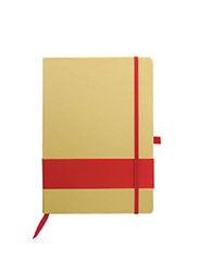 Silver Sword Eco Friendly Notebook with Stripe, Red