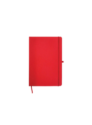 Silver Sword Promotional Notebook with Calendar, Pocket & Pen Holder, A5 Size, Red