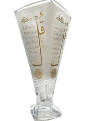Silver Sword Crystal Quadro Vase, 33cm, Gold