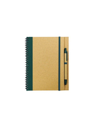 Silver Sword Eco Friendly Recycled Notepad with Stylus Pen, Green