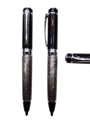 Silver Sword Metal Globe Roller Ball Pen, Black/Silver