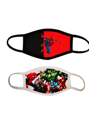Silver Sword Spiderman and Avengers Face Mask for Kids, Black/Red/White, 17cm, 2 Masks