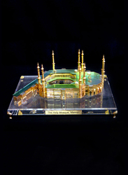 Silver Sword Crystal Gold Plated Holy Mosque Kaaba, 46 x 33 x 26cm, Multicolour