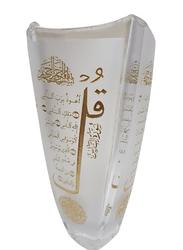 Silver Sword Crystal Colloseum Vase, 30.5cm, Gold