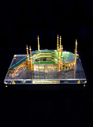 Silver Sword Crystal Gold Plated Holy Mosque Kaaba, 30 x 21 x 30cm, Multicolour