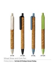 Silver Sword Eco Friendly Wheat Straw and Cork Pen, Blue